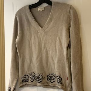 Beautiful Jackpot Sweater in Taupe, size 3